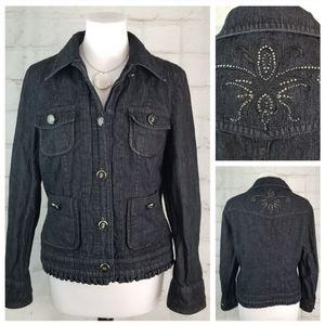 Steilmann 10 Black w/ Metallic Jean Jacket Studs